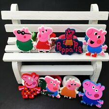 8PCS Children Girls Rings Cartoon Pink Pigs Rings Soft Rings Party Kids Gifts