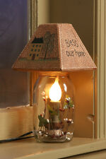 New Country Primitive House Willow BLESS OUR HOME MASON JAR LIGHT Electric Lamp
