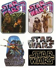 *****5 STAR WARS   *******  ***FABRIC/T-SHIRT IRON ON TRANSFERS