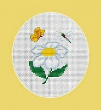 Daisy, Butterfly and Dragonfly Cross Stitch Kit - Luca S -Beginner 6.5cm x 8.5cm