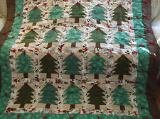Finished Quilt,The Tree Farm,25 assorted Trees, Can Stay Out all Season.
