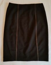 WOMEN'S BLACK BURBERRY KNIT PENCIL SKIRT SIZE 14 U.S.