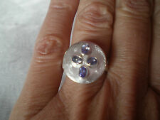 Tanzanite ring, 0.61 carats, size N/O, set in 5.29 grams of 925 Sterling Silver