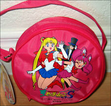 Super S SailorMoon Mini Chibi Kids Girl Child ROUND Hand Bag Purse Sailor Moon