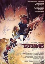 THE GOONIES CAST OF 5 AUTOGRAPH SIGNED PP PHOTO POSTER