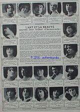 PUBLICITE SAVON CADUM DELZA BERTY GALLOIS REJANE DIETERLE VEDETTE DE 1912 AD PUB
