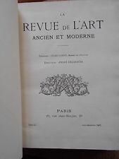 LA REVUE DE L'ART ANCIEN ET MODERNE - JULES COMTE - TOME LII - JUIN/DEC. 1927
