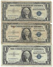 1935 1957 Old Rare US Blue Seal Silver Certificate Dollar Bill Collection Lot AA