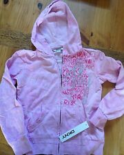 DKNY Pink Girls sweatshirt Zip Hoodie Jacket NWT NEW Size Medium M