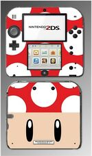 New Super Mario Bros 2 3D Toad Mushroom Game Decal Skin Cover Nintendo 2DS