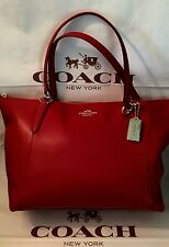 COACH ARMOR LEATHER AVA TOTE CLASSIC RED F38483 NWT MSRP $350