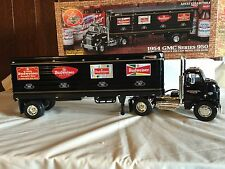 Ertl 1:25 scale 1954 GMC Truck Great Dane Trailer Budweiser Beer w/box Black