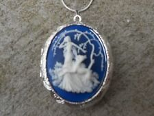 (LOCKET)--STUNNING GODDESS DIANA WITH DEER CAMEO NECKLACE!!! QUALITY!!!