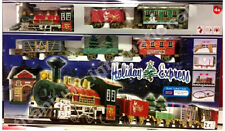 Christmas Holiday Express Train Set  With lights,Motion Carriages Station DECOR