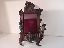 RARE Art Deco Nouveau Ornate Metal Cupid Picture Frame Vintage Repo 4x6