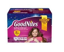 Goodnites Bedtime Underwear Bed Wetting Girls Size 8 to 14 44 Count Box NEW