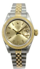 ROLEX OYSTER PERPETUAL DATE 18K Gold & Stainless Steel Ref. 69173 Women's