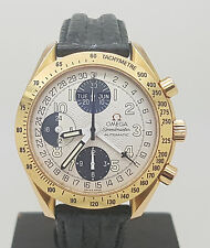 Rare 18K Rose Gold Omega Speedmaster  Automatic Chronograph Day-Date Watch