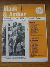 01/12/1973 Cambridge United v Plymouth Argyle   (Item has no apparent faults).