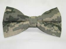 (1) PRE-TIED BOW TIE - U.S. ARMY ACU DIGITAL CAMO - GREEN, GRAY & TAN