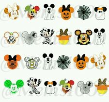Mickey and Minnie Mouse Halloween Nail Decals (water decals) Nail decals.