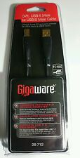 Gigaware 3-Ft. USB-A Male To USB-B Male Cable gold plated Brand New 26-712
