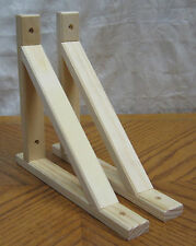 "2 NEW Natural Wooden Decorative 10.5 x9"" Shelf Bracket! Unfinished Wood Supports"