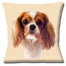 "NEW TAN BROWN WHITE CAVALIER KING CHARLES SPANIEL PHOTO 16"" Pillow Cushion Cover"
