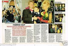 Coupure de Presse Clipping 1992 (2 pages) Mariage Fabrice Guy
