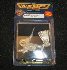 40k Rare oop Vintage Metal Rogue Trader Era Space Marine Ultramarine Captain NIB