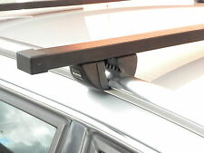 Black Roof Rack Bars Closed Solid Flush Rails for Zafira B 2005 to 2011 Sm 521