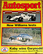 Autosport 18/3/82* F2 PREVIEW - New RALT RH6 & POSTER - GWYNEDD RALLY -WEST CORK