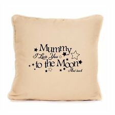 Personalised Cushion Mothers Day Gift I Love You To The Moon And Back Mum Home