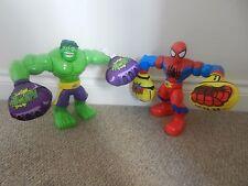 Playskool Spiderman Marvel Hulk Smash & sonidos de acción de eslinga 10 Pulgadas Figuras Raras