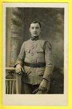 cpa Carte Photo MEYER à LUNEVILLE MILITAIRE SOLDAT du 8e Régiment Fourragère