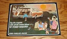 Original 1967 Ford Station Wagon Sales Brochure 67 Fairlane Falcon