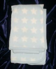Carters Light Blue & White Thin Baby Receiving Blanket Cotton Knit Stars