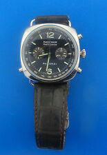 Panerai Radiomir Rattrapante Stainless Steel Automatic Watch on Leather Strap
