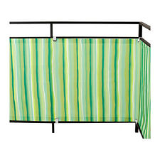 IKEA DYNING Wind Sunshield Cover Awning Canopy Shade Balcony Green Striped