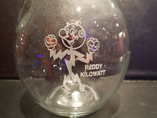 "Reddy Kilowatt LARGE 8 3/4"" ETCHED GLASS LIGHT BULB. Excellent! A PLUS!"