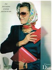 Publicité Advertising 1989 Foulard maroquinerie sac à main Christian dior
