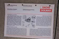Sachs Dolmar Instruction Manual for Chain Saws w/  Petrol Engine MORE IN STORE V