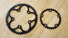 SRAM Chainring Set 50/34 Red/Force/Rival/Apex 50t 34t 110mm Compact Black Ring