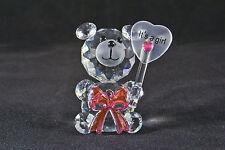 Crystal fiocco Bear azienda Numero di riferimento-è una ragazza! - NASCITA REGALO, NEW BABY GIRL-NUOVO