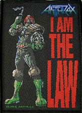 """ANTHRAX AUFNÄHER / PATCH # 15 """"I AM THE LAW"""""""