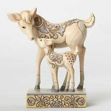 "JIM SHORE 2016 ""DEERLY DEVOTED"" WHITE WONDERLAND DOE AND FAWN/4053691"