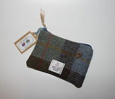 Blue Green McLeod Harris Tweed Coin Purse, Mother's Day,xmas,Birthday,Bridesmaid