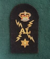 Royal Navy Chief Electrician Arm Badge Embroidered Bullion Wire