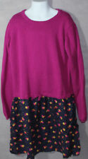 Girls BOUTIQUE HANNA ANDERSSON Pink Navy FLORAL POLKA DOT L/S DRESS 150 11 13 Y