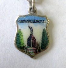 Vintage 835 Silver & enamel Hermannsdenkmal, Germany Shield Coat of Arms Charm